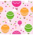 Background with hot air balloons and heart vector image
