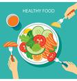 healthy food concept flat design vector image