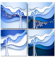Abstract winter tree vector image