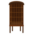 animal cage made of wood vector image vector image