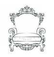 Baroque Imperial luxury style vector image vector image