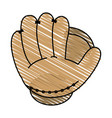 baseball glove design vector image