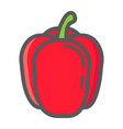 bell pepper colorful line icon vegetable vector image