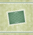 Christmas vintage frame ornamental design elements vector image