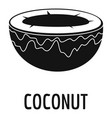 coconut icon simple style vector image
