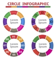colorful round infographic elements vector image