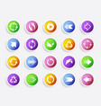 colourful round arrow icons with shadow vector image