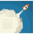 Concept of start up rocket on blue vector image vector image