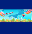 conceptual horizontal banner homepage template vector image vector image