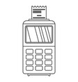 Credit card pay device icon outline style