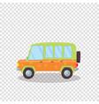 cute car with flowers ornament and spare wheel vector image