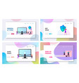 demilitarized zone landing page template set tiny vector image vector image