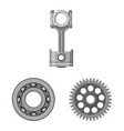 design auto and part icon collection of vector image