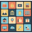 Flat set of modern icons vector image