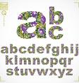 floral font hand-drawn lowercase alphabet letters