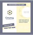 football company brochure template busienss vector image vector image