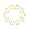 Golden floral pattern Ornate design in gold vector image