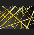 golden stripes pattern on black background vector image vector image