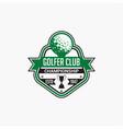 golf club badge logo-7 vector image vector image