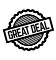great deal black stamp vector image