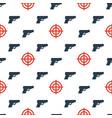 gun targets seamless pattern2 vector image vector image