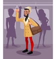 guy in a public transport vector image
