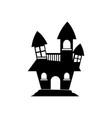 halloween haunted house icon vector image vector image