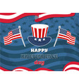 happy independence day flag vector image vector image