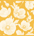 hellebore flowers seamless pattern yellow orange vector image vector image