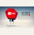 hi-tech design concept vector image vector image