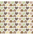 hipster hearts pattern vector image vector image