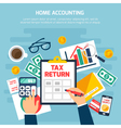 Home Accounting Composition vector image