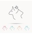 Horseback riding icon Jockey rider sign vector image vector image