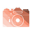 icon of retro film photo camera vector image
