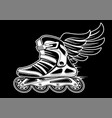 inline roller skate with wing vector image vector image