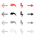 isolated object of element and arrow icon set of vector image vector image
