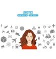 Logistics service design concept vector image