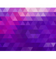 low poly colorful purple triangles vector image vector image