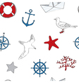 Nautical seamless vector image vector image