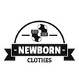 newborn clothes logo simple black style vector image vector image