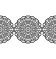 ornate decorative snowflake on a white background vector image vector image