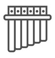 panpipe line icon musical and instrument vector image