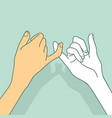 pinky promise hands concept vector image vector image