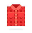 red folded shirt flat isolated vector image