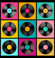 retro music background with vinyl records - lp vector image