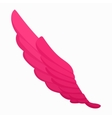 Rose wing icon cartoon style vector image vector image