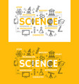 science and education outline symbols vector image vector image