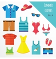 set clothes for men and women fashion icons vector image