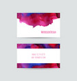 set two business cards vector image