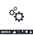 Setting icon flat vector image vector image